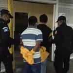 Presuntos  sicarios capturados sindicados de cometer un ataque armado en zona 11
